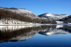 Winter reflection Royalty Free Stock Image