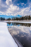 Winter reflections at Kiwanis Lake, in York, Pennsylvania. Stock Image
