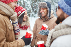 Winter refreshment Royalty Free Stock Images