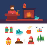 Winter related icons and illustrations. Eps 10, no transparencies Stock Photography
