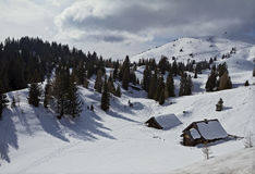 Winter Relax view of Rosstratten, Austria Royalty Free Stock Photo