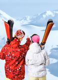 At winter resort Stock Photo