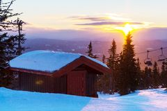 Winter resort Stock Photos