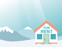 Winter resort. House for rent in the mountains. Vector illustrat. Ion Stock Image