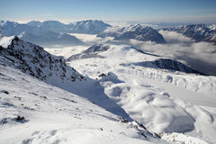 Winter resort panorama Royalty Free Stock Photos