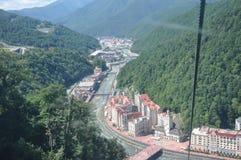 Winter resort Rosa khutor subrb of Sochi stock images