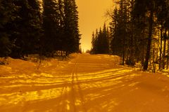 Winter resort Stock Photo