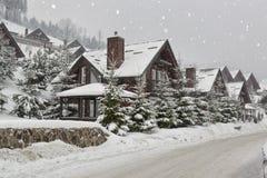 Winter resort under snow Stock Image