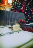Winter restaurant Stock Images