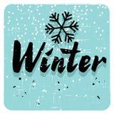 Winter retro card Royalty Free Stock Photography