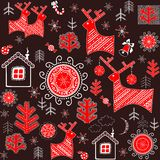 Winter retro wrapper with abstract pattern Royalty Free Stock Image
