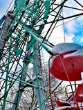 Ferris wheel in winter in Russian stock photography