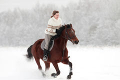 Winter riding Stock Photography