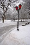 Winter in Riga. Park in Riga, Latvia, Winter 2006 Royalty Free Stock Image