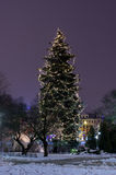 Winter Riga in December 31 of 2014. New Year stock photos