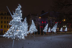 Winter Riga in December 31 of 2014. New Year stock image