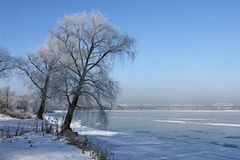 The winter river - 2 Stock Image
