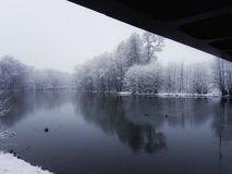 Winter. By the river Stock Images