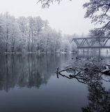 Winter. By the river Royalty Free Stock Photos