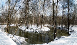 Winter River Bend Stock Images