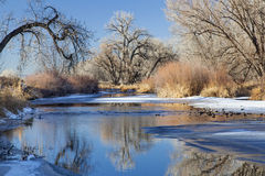 Winter river in Colorado Royalty Free Stock Photo