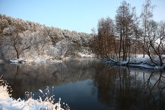 The winter river. Stock Image