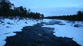 Winter River stock footage