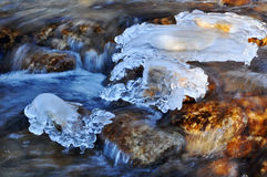 Winter river ice Royalty Free Stock Image