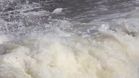 Winter river ice. Waterfall ice stock video footage