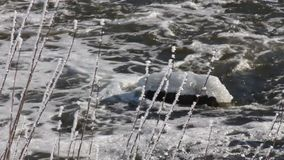 Winter river ice stock footage
