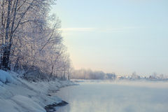 Winter river landscape Stock Image