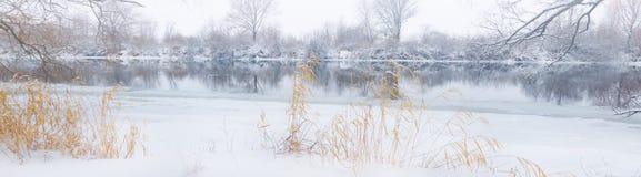 Winter river landscape Stock Photography
