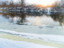 Winter river. Royalty Free Stock Photography