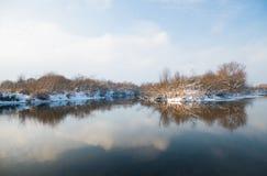 Winter river. Stock Photo