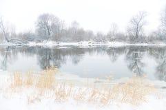 Winter river. Stock Photos