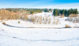 Winter river landscape Royalty Free Stock Photo