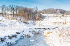 Winter river landscape Royalty Free Stock Photo
