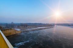 Winter river Stock Image