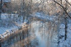 Winter river. Royalty Free Stock Photos