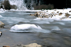 Winter river Stock Image