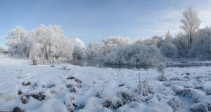 Winter on the River Royalty Free Stock Photo