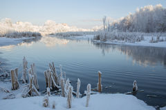 Winter on the River Royalty Free Stock Photography