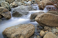 Winter river with rocks Royalty Free Stock Photo