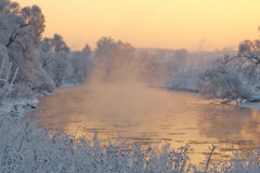 Winter River. The river and the Russian winter Stock Images