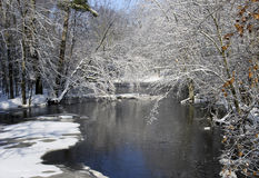 Winter river scene Stock Image