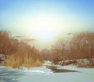 Winter river scene Stock Image