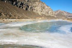 Winter river scenery Stock Image