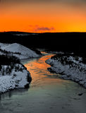Winter river scenery Royalty Free Stock Image