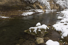 Winter River Scenic Stock Photography