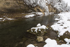 Winter River Scenic Royalty Free Stock Photos